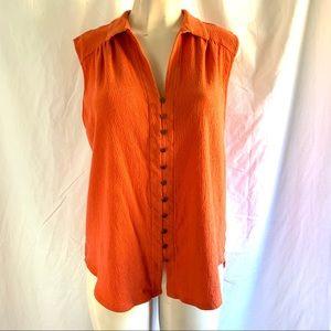 Lucky Brand button up sleeveless blouse Size XL